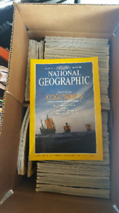 Lot of National Geographic magazines