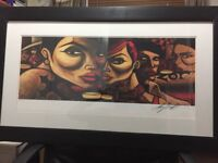 Terry Bradley Limited Edition Framed Signed Print of Love Club