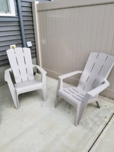 Plastic cottage chairs