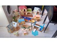 Sylvanian family massive bundle houses figures and more.