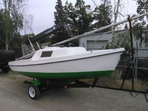 DS 16 Sailboat - Very Nice Boat & Trailer - EZ Tow
