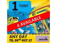 Legoland 1 Ticket - UNRESTRICTED ANY DAY ANY / TIME DATE 2017 - Lego land