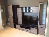 Living Room Furniture Set LAVA TV Stand Cabinets LEDs