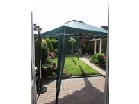 LARGE CANVAS GAZEBO IN DARK GREEN