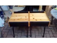 pair of pine bedside cabinets - free delivery