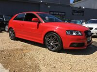 AUDI A3 2.0 TDI Black Edition S Tronic 3dr (start/stop) (red) 2009