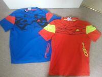 2 x Adidas T-shirts Age 11-12 Years