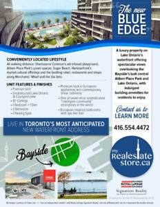 NEW EXCLUSIVE UNIT AT TORONTO'S NEW BLUE EDGE