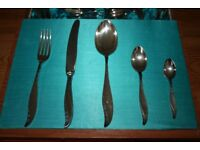 Vintage Canteen of Silver-Plated Cutlery in Satin-Lined Presentation Box