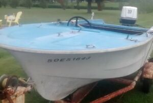 1963 Southwind sailcraft with original Johnson 33HP outboard.
