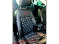 LEATHER CAR SEATCOVERS MERCEDES AUDI PEUGEOT VOLKSWAGEN FORD CITREON TOYOTA BMW VAUXHALL