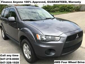 2010 Mitsubishi Outlander 4WD FINANCE 100% APPROVED WARRANTY