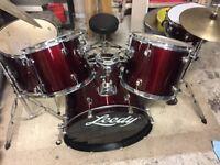 Leedy red drum kit