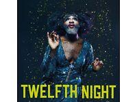 2 x Tickets - Twelfth Night - Globe Theatre - Wednesday 26/07/2017
