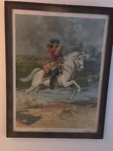 King William print in vintage frame