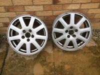 Pair of ford mondeo alloy wheels