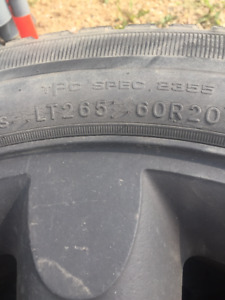 5 Goodyear SR A Rated Tires and Rims