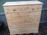 Soild wood chest of draws