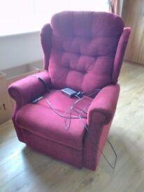 Single motor riser, reclining chair