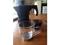 Moka coffee Italian coffee maker + 2 cups included