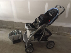 Graco stroller with car seat base