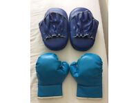 Boxing Gloves and Hit Pads