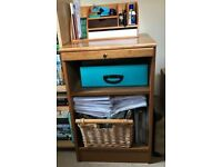 Small home office storage unit