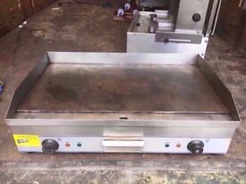 CATERING FLAT 2 BURNER COMMERCIAL GRILL MACHINE DINER MEAT FASTFOOD RESTAURANT BBQ STEAK OUTDOORS