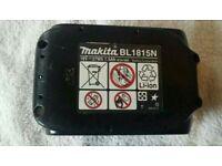 Makita BL1815N Lithium-ion Battery, 18 Volt, 1.5 Ah, Guaranteed 100% Genuine