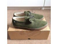 Pretty Green khaki pumps UK8