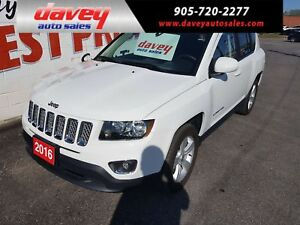 2016 Jeep Compass Sport/North 4X4, POWER SUNROOF, HEATED LEAT...