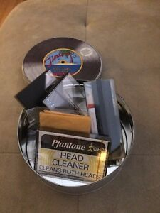 Record and Tape care kit in tin