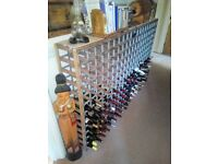 Wooden-And-Metal-Rustic-Shabby-Chic-Wine-Rack-Storage-Bottle-Unit-