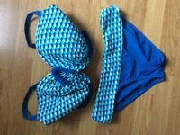 Beautiful Curvy Kate bikinis size 30HH and 32HH and matching bottoms size 12 for sale