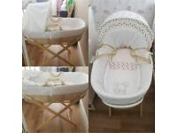 Moses Basket with mattress and stand (2 available)