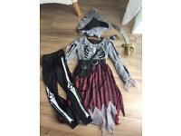 Girls pirate dress up costume age 7-8