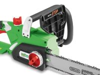 Electric Chainsaw Cutting Tool Trees Garden Patio Hedges Bushes Yard Maintenance