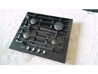 Neff T62S26S1 Gas Hob Black - Cast Iron Pan Supports