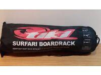 Heavy duty soft board racks for vehicle roof