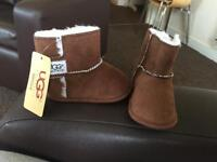 Real baby ugg boots size 4 with tags