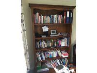 Tall solid pine bookshelf