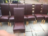 Dining chairs x 7