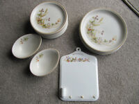 M&S Harvest crockery- plates (small & medium), writing board and avocado dishes