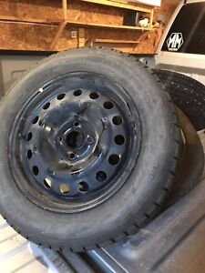 "15"" BF Goodrich winter tires with rims"