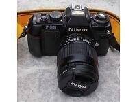 Nikon F-301 film camera with AF Nikkor 28-80mm lens