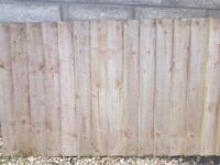 Used Feather egde fencing and posts.