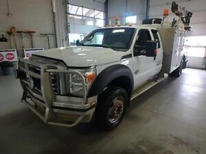 2013 Ford Super Duty F-550 Ext Cab Service truck + Crane + VMAC