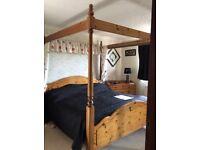 4 Poster Super King pine Bed