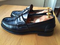 Churches Tunbridge Bookbinder Fume black leather mens handmade loafer shoes, size 9.5F, RRP £300