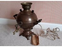 Russian Copper and Brass Samovar. Decorative item. Cable included but not PAT tested
